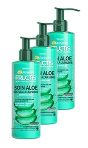 Garnier Fructis Lotion Tonique Soin Aloe Hydra Bomb Séchage à l'Air Libre Cheveux Longs 1.2 L – Lot de 3