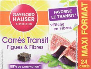 Gayelord Hauser Diététicien Carrés Transit Figues et Fibres 24 x 10 g