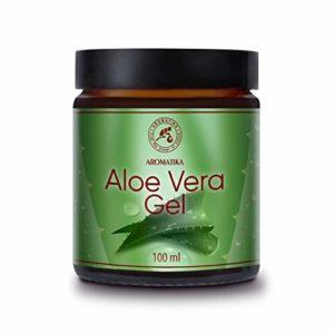 Gel Aloe Vera 100ml – Brésil – 100% Naturel – Rafraîchissant Apaisant Hydratant pour Tous les Types de Peau – Cheveux tous Types – Soin du Visage et du Corps – Soin des Coups de Soleil – Massage