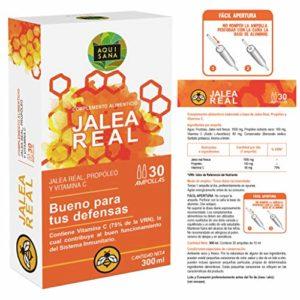 Gelée royale à la propolis pour plus d'énergie et de vitalité – Gelée à la propolis et à la vitamine C pour renforcer notre système immunitaire – 30 ampoules