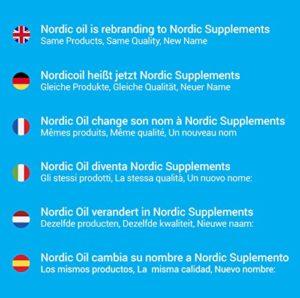 Gélules d'huile de poisson très riche en oméga-3 de qualité pharmaceutique Nordic Oil, 1000mg, boîte de 365 gélules