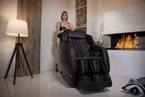 GESS integro Fauteuil de massage professionnelle (Noir) avec Zero Gravity de massage Tapping Pétrissage Shiatsu Chauffant infrarouge
