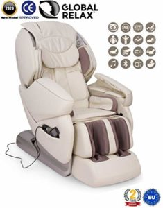 Global Relax France – NIRVANA Fauteuil de Massage (nouveau modèle 2018) – Blanc – 2 ANS Garantie Officiel Global Relax
