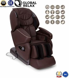 Global Relax France – NIRVANA Fauteuil de Massage (nouveau modèle 2018) – Marron – 2 ANS Garantie Officiel Global Relax