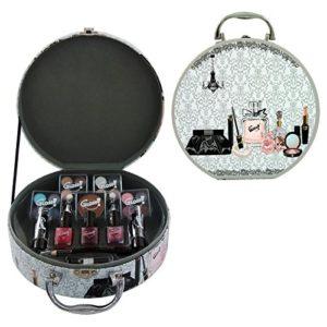 Gloss! Mallette de Maquillage Style Vintage 25 Pièces, Coffret Cadeau-Coffret Maquillage