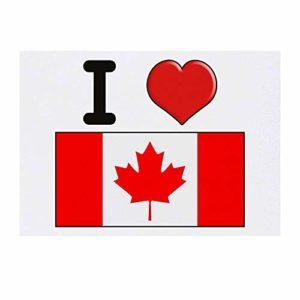 Grand 'I Love Canada' Tatouages temporaires (TO00000704)