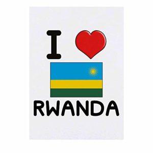 Grand 'I Love Rwanda' Tatouages temporaires (TO00000974)