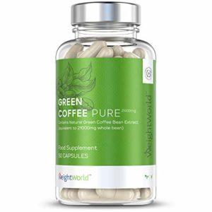 GREEN COFFEE PURE 7000MG – Café Vert Brûleur de Graisse Puissant – Stimule le Métabolisme, Agit Contre les Signes de l'Âge, Apporte de l'Énergie – Recommandé par le Dr. Oz – 90 Gélules – 1 Mois d'Utilisation – Complément Alimentaire 100% Naturel par Maxmedix