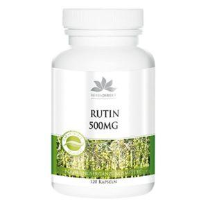Herbadirekt Rutine 500 mg extrait naturel de sophora japonica, 120 gélules, végétarien, 1 boite (1 x 72 g)