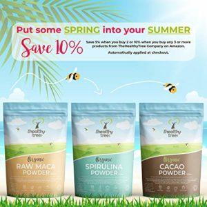 Herbe de blé d'Allemagne BIO en poudre – Riche en protéines, fibres, calcium et chlorophylle – Parfaite pour les jus de superfoods verts – Poudre d'herbe de blé par TheHealthyTree Company