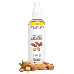 Huile d'argan BIO 100% Pure Certifié ECOCERT & USDA de Première Pression à Froid Pour Corps et Cheveux – L'original du Maroc (100 ml)