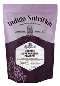 Indigo Herbs Poudre SuperGreens Bio – 1kg (Certifiée Biologique)