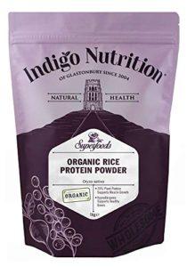 Indigo Herbs Protéines de Riz en poudre Bio – 1kg (Certifié Biologique)