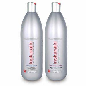 Kit Lissage Brésilien Inokeratin – 2 x 1000 ml – à la Kératine et à l'Huile d'Argan – sans formol
