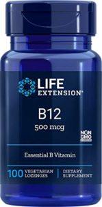 Life Extension, B-12, 500 mcg, 100 Pastilles