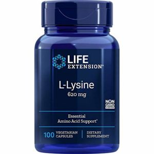 Life Extension, L-Lysine, 620 mg, 100 Capsules
