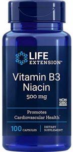Life Extension, Vitamine B3 Niacine, 500 mg, 100 Capsules