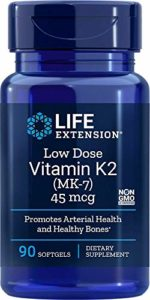 Life Extension, Vitamine K2 à faible dose, 45 mcg, 90 Gélules