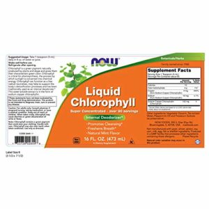 Liquid Chlorophyll, Triple Strength – Mint Flavour – 16oz (473 ml) – NOW