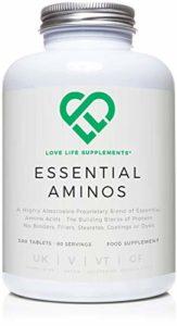 LLS Acides Aminés Essentiels (EAA) | 300 comprimés / 60 Portions | 5-10g par portion | Produit au Royaume-Uni avec certification GMP | Love Life Supplements -«Live Healthy, Love Life»