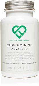 LLS Curcumine 95 Avancée (anciennement Curcumine C3 Avancée) | Haute Qualité Curcuma Curcumine contenant UNIQUEMENT LA CURCUMINE avec 95% de curcuminoïdes + Bioperine®, de la Vitamine D3, de tomates et de la racine de gingembre | 60 Capsules | Produit au Royaume-Uni sous la certification GMP