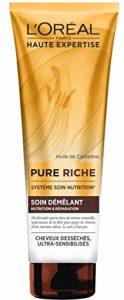 L'Oréal Paris Pure Riche – Soin démelant nutrition & réparation – Cheveux Desséchés 250 ml