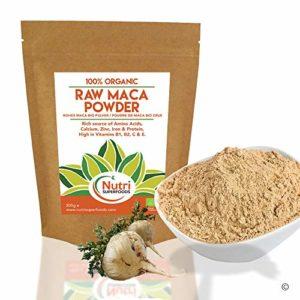 MACA en POUDRE BIO CRU Superaliment végétal qui favorise la fertilité, équilibre les hormones, diminue le stress, augmente l'énergie – 500g