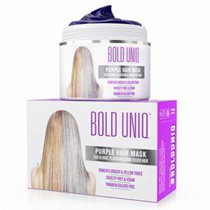 Masque Capillaire Violet – Soin Professionnel pour Cheveux Blonds et Gris – Conditionneur Nourrissant Réparateur et Protecteur sans Sulfate pour Cheveux Secs, Abîmés et Décolorés – 200 ml