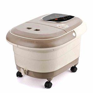 Massage Spa Cuisinière à pied à domicile Thermomètre à température automatique à pétrole Bassin de massage à massage électrique Barres profondes (couleur kaki foncée) (5008420 * 400 mm) Massagiste à rouleaux