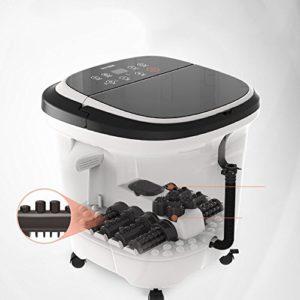 Massage Spa Pied baignoire automatique massage électrique barils de seau de bain Accueil bassin de bain de pieds (39.5 * 42.5 * 44.5 cm) Massagiste à rouleaux