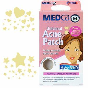 MEDCA Universel Patch Couverture Absorbante Boutons d'Acné Formes Cœur et Étoile TOTAL DE 56 PATCHS