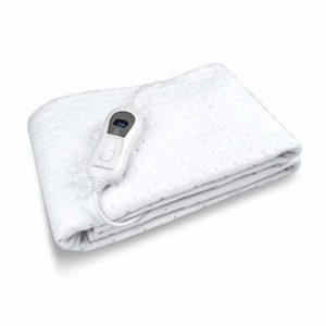 Medisana HU 665 Surmatelas chauffant (convient pour les matelas 150×80-100 cm), 3 niveaux de température, lavable, Oeko-Tex Standard 100, 60217