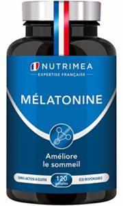 ⭐ MELATONINE NUTRIMEA ⭐ 1,8 mg/jour – 120 gélules végétales de 0.9 mg – Favorise l'endormissement et limite les effets du décalage horaire – FABRICATION FRANCAISE – SATISFAIT OU REMBOURSE