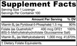 Methyl B-12 & Methyl Folate, Lemon Flavor, 1,000 mcg / 400 mcg – Jarrow Formulas
