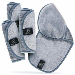 Microfibre Demaquillante (4 Pack) – Lavable et Réutilisable – Gant Demaquillant Microfibre Intégré – Lingette Demaquillante Lavable – Serviette Visage – Make Up Remover Cloth Face Towel