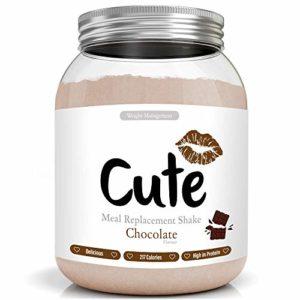 Milk-Shake/Smoothie Chocolat pour maigrir tout en restant en forme – Substitut de repas diététique sous forme de boisson en poudre hyperprotéinée basses calories – Guide pour perdre du poids offert