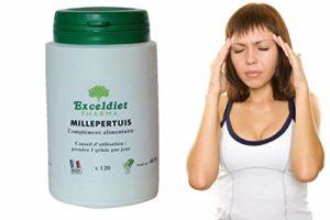 Millepertuis 120 gélules à 338 MG – Sommeil, stress,fatigue -Angoisses- Difficultés à s' endormir- Nœud à l' estomac- Stress au travail – Équilibre émotionnel – Exceldiet, la marque Verte.