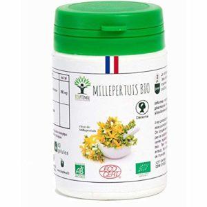 Millepertuis bio | 60 gélules | Complément alimentaire | Bonne humeur/Sommeil | Bioptimal – nutrition naturelle | Fabriqué en France