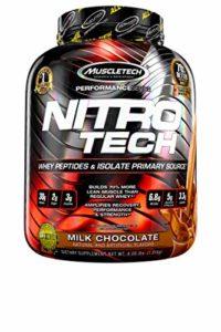 MuscleTech Nitro-Tech Performance Séries Complément Alimentaire Chocolat au Lait 4 lbs
