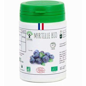 Myrtille bio | 60 gélules | Complément alimentaire | Clarté visuelle | Bioptimal – nutrition naturelle | Fabriqué en France