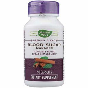 Nature's Way Complément alimentaire Blood Sugar – Mélange d'extraits de plantes et de caroténoïdes – Pour maintenir des niveaux d'insuline normaux – 90 capsules (386 mg)