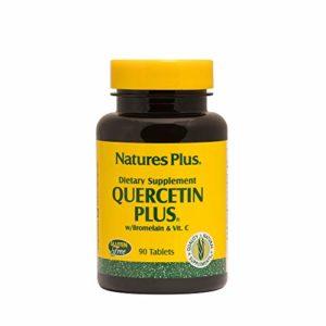 Natures Plus QUERCETIN PLUS WITH VIT C AND BROMELAIN compriméS 90