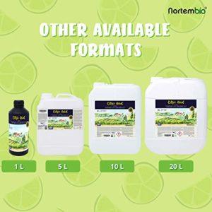 NortemBio Acide Citrique 1,15 Kg. Poudre Anhydre, 100% Pure. pour la Production Biologique. Développé en Francia.