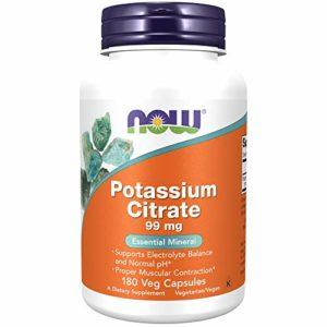 NOW Foods – Potassium Citrate 99 mg 180 gelules