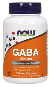 NOW Foods Gaba 500mg with B-6, 100 Vegetable Capsules