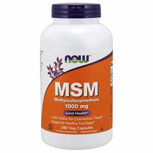 Now Foods, MSM 1000mg x240caps – Methylsulphonylmethane