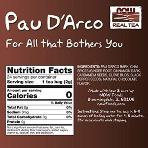 Now Foods Pau D Arco Tea, 24 bags