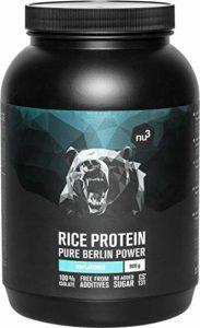 nu3 – Protéine de Riz en Poudre | 750g | Véritable source de protéines avec 24g de protéines et 110 kcal par portion | Apporte 81% de protéines de riz entier | Vegan, sans gluten et hypoallergénique