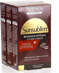 Nutreov Sunsublim Bronzage Intégral à l'Huile d'Argan Lot de 6 x 30 Capsules