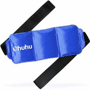 Ohuhu Poche de Gel Réutilisable Gel à Glace à Froid Chaud avec Emballage Réglable pour Soulagement Douleur et Blessure Sportive